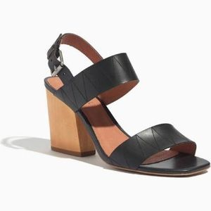 Madewell Karina Slingback Sandal in True Black